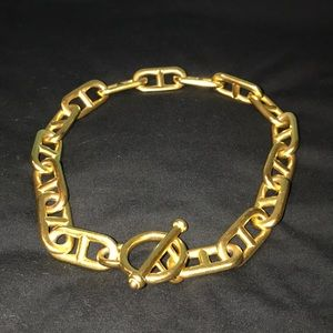 Jaded Jewelry Yellow Gold Wide Chain